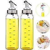 Olive Oil Dispenser Bottle - 2 Pack of 17 oz. Big Olive Oil
