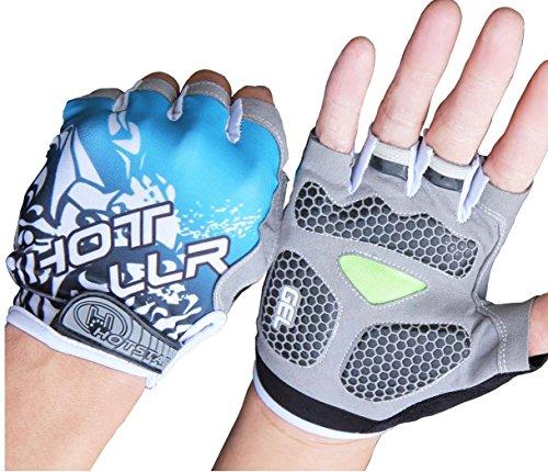 SMING Cycling Gloves Half Finger with Gel Pad Shock-absorbing Fingerless Gloves Men//Women