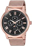 GUESS Men's Quartz Stainless Steel Casual Watch, Color:Rose Gold-Toned (Model: U0871G5)
