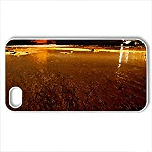Biarritz evening - Case Cover for iPhone 4 and 4s (Watercolor style, White)