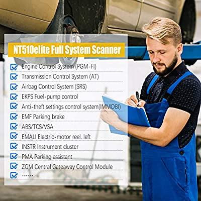 FOXWELL NT510 Elite OBD2 Code Reader for Honda Acura Automotive Scan Tool All System Bi-Directional Diagnostics Scanner ABS SRS Transmission Auto Bleed SAS TPMS DPF EPB Oil Reset (Enhanced Version): Automotive