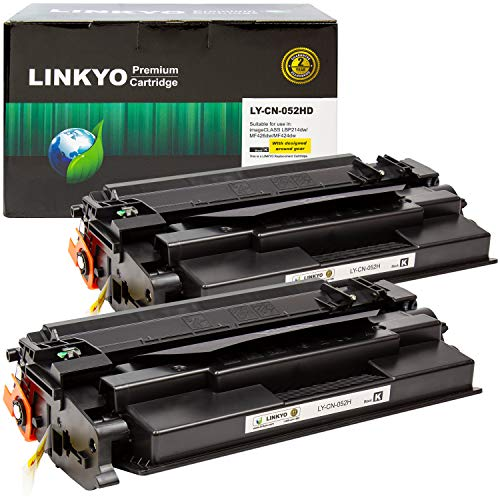 LINKYO Compatible Toner Cartridge Replacement for Canon 052H 052 High Capacity (Black, 2-Pack)