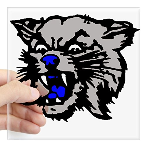 (CafePress Cat Head Alone.Psd Sticker Square Bumper Sticker Car Decal, 3