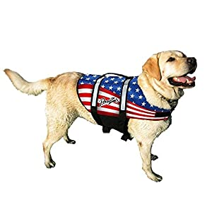 Pawz Pet Products Doggy Life Jacket, American Flag, XX-Small