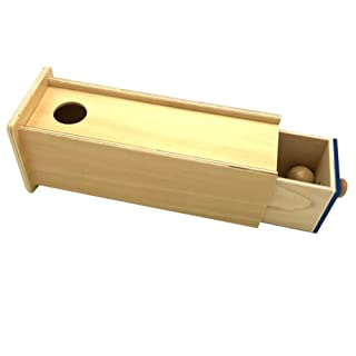 xinYxzR Teaching Aid Tool Wooden Baby Ball Rectangle Drawer Box Kids Educational Toy wooden