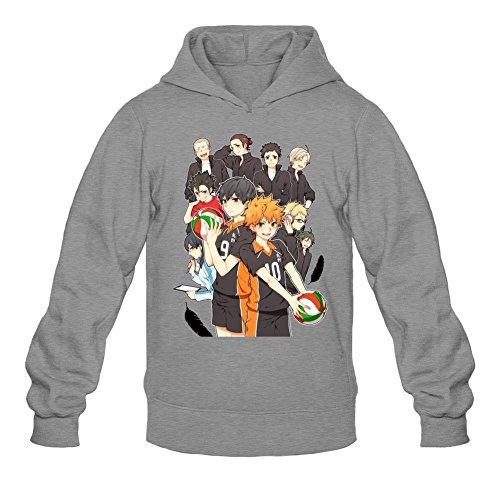 Tommery Men's Haikyuu Logo Long Sleeve Sweatshirts Hoodie