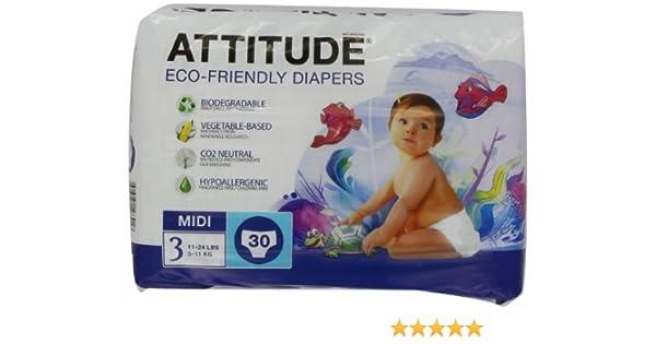 Attitude - Pañales ecológicos, pack de 3 (3x90 unidades): Amazon ...