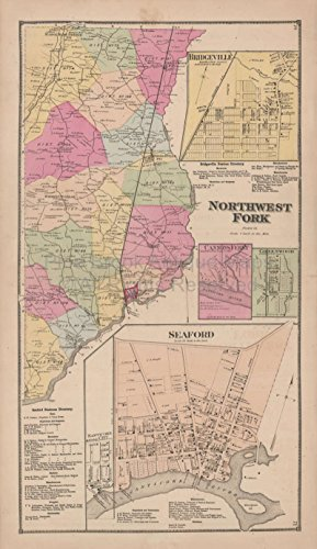 Northwest Fork Seaford Delaware Antique Map Beers 1868 Unique Home Decor History Ancestry Gift Ideas