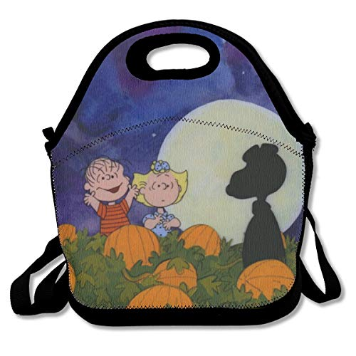 LIUYAN Personalized Lunch Tote Bag Great Pumpkin Snoopy Picnic Lunch Bag for Kids Boys Men Women Girls -