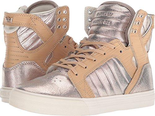 Bone Smooth Footwear - Supra Women's Skytop Shoes,Size 7,Champagne-Bone