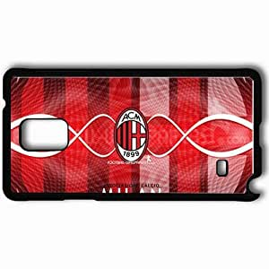 Personalized Samsung Note 4 Cell phone Case/Cover Skin AC MILAN Football Black