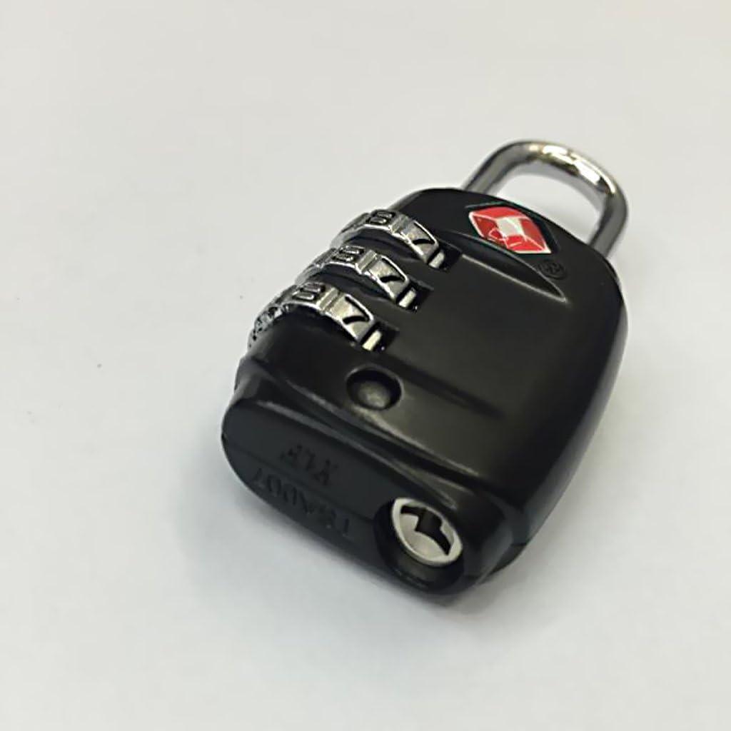 Noir MagiDeal TSA 002 Bagage Serrure /à Combinaison /à 3 Chiffres Valise Code Lock Portable et l/éger