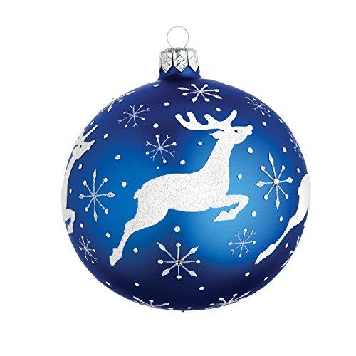 Reed & Barton Classic Christmas Reindeer Ball Ornament ()