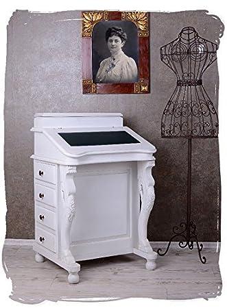 Sekretär Ikea davenport desk white shabby chic wood bureau desk amazon co uk