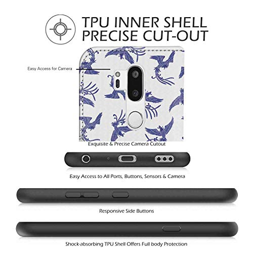 Amazon com: LG G7 ThinQ Wallet Case, Phoenix Oriental Legend Bird