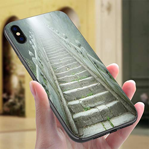 (iPhone X/XS Color case A Stone Staircase Going into Light Resistance to Falling, Non-Slip,Soft,Convenient Protective Case)