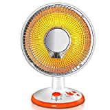 DW&HX Oscillating Fan Heater, Electric Quiet Dish Heater Energy Saving Space Heater Infrared Heater Thermostat Home -A