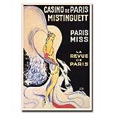 vintage advertisement - Trademark Fine Art Casino de Paris Mistinguett by Louis Gaudin, 18x24-Inch Canvas Wall Art