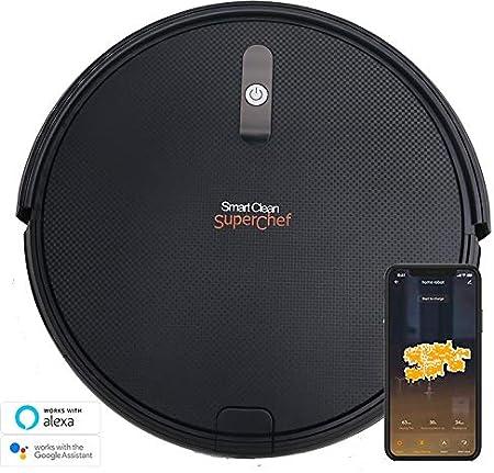 SuperChef Robot Aspirador SF423 SmartClean WiFi, App, Compatible con Alexa y Google Home, Navegación Inteligente Gyroscópica: Amazon.es: Hogar
