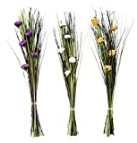 Deco 79 37280 Wildlife Bouquet (Set of 3), Assorted, 40'' x 9''