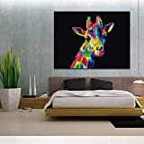 BFY Unframed Modern Abstract Oil Painting Watercolor Giraffe Huge Wall Decor Art On Canvas
