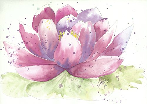 Blank Note Cards: 6 Blank Artistic Summer Floral All Occasion Watercolor Cards, With Envelopes - Lana's Lotus (Lotus Note Cards)