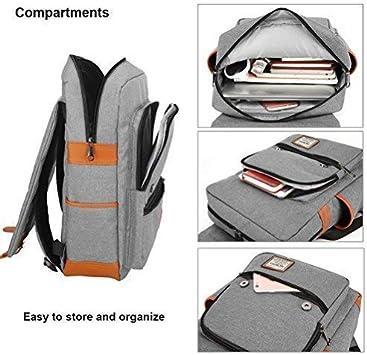 Grigio Zaino per PC Portatile Impermeabile da Uomo Borsa Universitaria Daypack per La Scuola Business MCWTH Unisex Multiuso Zaino con Porta USB
