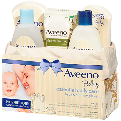 Aveeno Baby Essential Daily Care Baby & Mommy Gift Set featuring a Variety of Skin Care and Bath Products to Nourish… 7