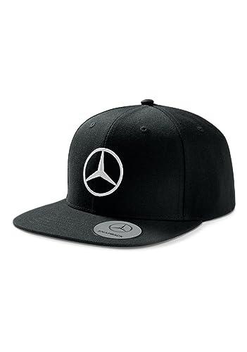 5918de68253 Mercedes Benz Men s Black Flat Brim Snapback Hat Cap at Amazon Men s  Clothing store