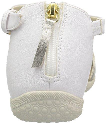 discount nicekicks Geox Women's Vega 12 Flat Sandal White/Light Gold good selling sale online eGR3Iz4bfO