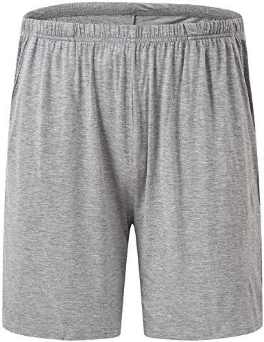 - JINSHI Mens Sleep Shorts Loose Performance Comfy Lounge Pajama Bottoms Shorts Pants, Gray, Size S