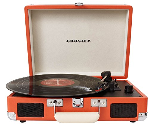 Crosley CR8005A-OR Cruiser Portable 3-Speed Turntable, Orange (Certified Refurbished)