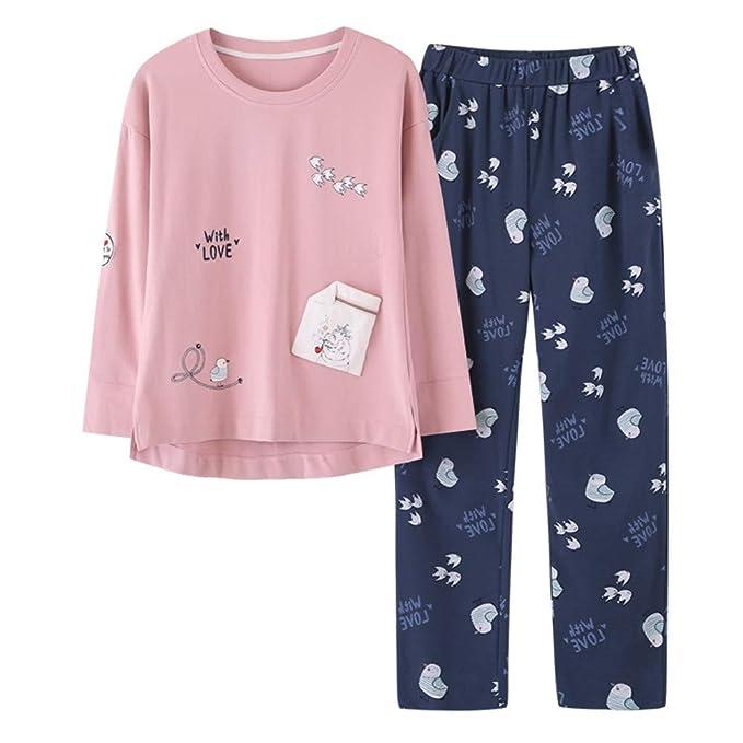 MEIXIA Batas De Baño Batas De Dormir Pijamas Loungewea Otoño Algodón De Manga Larga para Mujer: Amazon.es: Ropa y accesorios