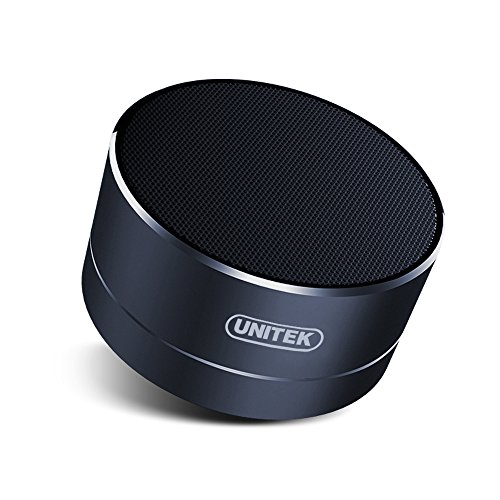 UNITEK Aluminium Wireless Stereo Portable Bluetooth Speaker with Handsfree Speakerphone Built-in Micro SD TF card slot, Space Gray