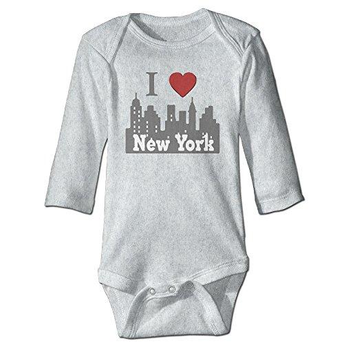 (I Love New York NY Skyline Toddler Long Sleeve Bodysuits Romper)