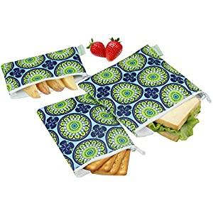 Wegreeco Reusable Snack Bags, (Set of 3) - Funky Flower