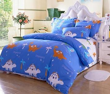 cliab dinosaur bedding set kids queen size bedding sheets 100 cotton boys bedding queen duvet
