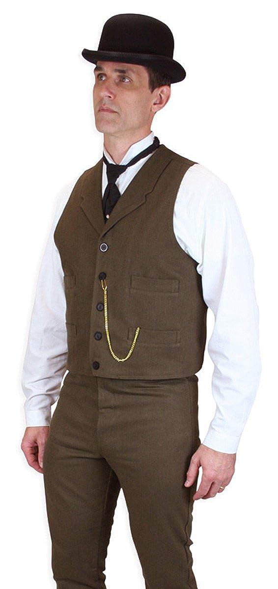 Historical Emporium Men's 100% Brushed Cotton Dress Vest 002574