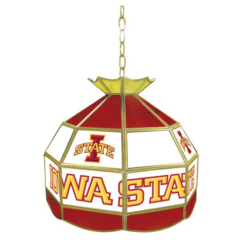 NCAA Iowa State University Tiffany Gameroom Lamp, 16'' by Trademark Gameroom