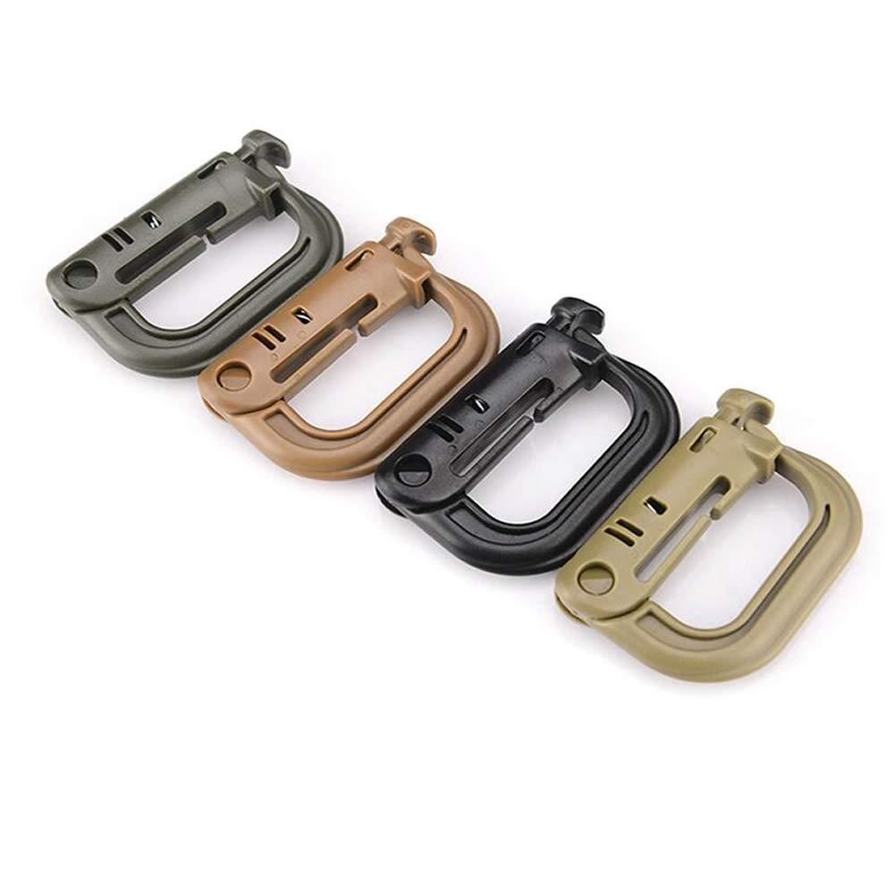 RONRONS Set of 12 Multipurpose D-Ring Grimlock Locking for Molle Webbing