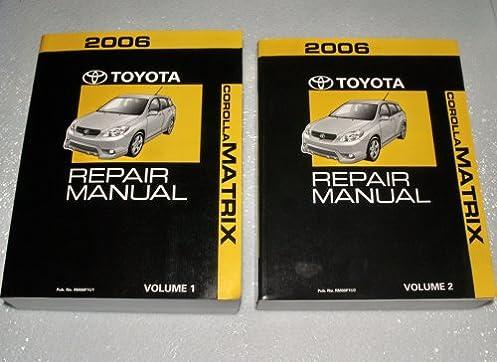 2006 toyota corolla matrix repair manuals zze132 zze133 zze134 rh amazon com toyota matrix 2011 repair manual 2010 toyota matrix service manual pdf