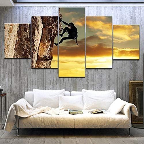 PUHAHA® Decoración para el hogar Impresiones Pintura 5 Panel ...