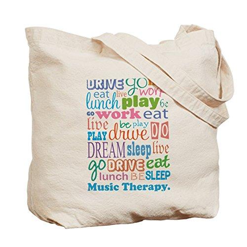 25ab32b0b6a CafePress diseño de estampado de terapia musical Tote Bag – Natural gamuza  de bolsa de lona ...