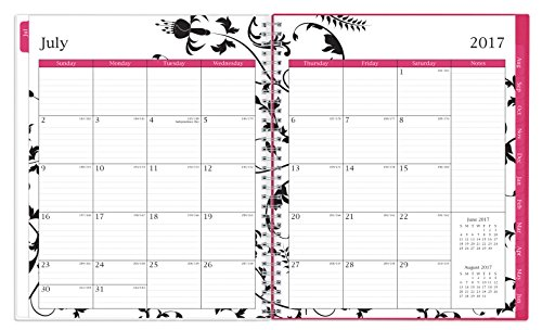 Blue Sky 2017-2018 Academic Year Monthly Planner, Twin-Wire Bound, 8