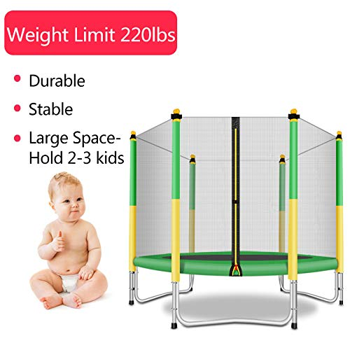 Fashionsport OUTFITTERS Trampoline with Safety Enclosure -Indoor or Outdoor Trampoline for Kids-Yellow/Green-5 feet by Fashionsport OUTFITTERS (Image #4)