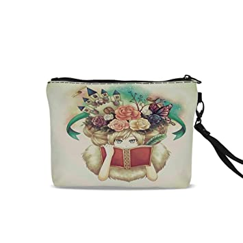 402ed99556f1 Amazon.com : Fantasy Portable Travel Makeup Cosmetic Bags, Creative ...