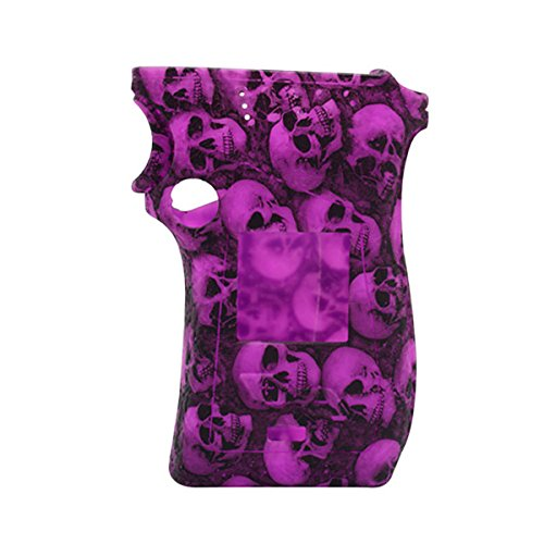 Rayley Protective Silicone Sleeve Case Skin Cover Decal for Smoktech SMOK MAG 225W Mod Right Hand Skull Edition (Purple) (Skull Right Decal)