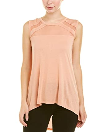 Amazon.com  BCBGMAXAZRIA Women s Sleeveless Top with Tulle Insert ... 687615679