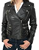 Womens Ladies Real Soft Leather Racing Style Biker Jacket NEW (XXXL (20))