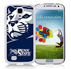 Ncaa Big Ten Conference Football Penn State Nittany Lions 14 White Case for Samsung Galaxy S4 i9500,Prefectly fit and directly access all the features